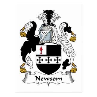 Newsom Family Crest Postcard