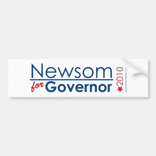 Newsom For Governor Bumper Sticker