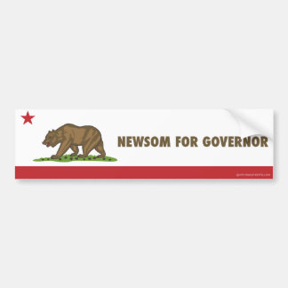 Newsom For Governor California Flag Car Bumper Sticker
