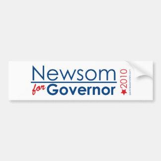 Newsom For Governor Car Bumper Sticker
