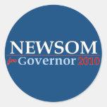 Newsom for Governor Classic Round Sticker
