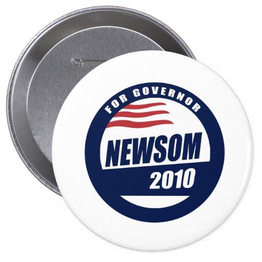 Newsom para el gobernador 2010 pin