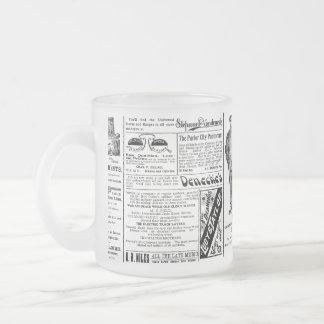 Newspaper #1 mug: frosted frosted glass coffee mug