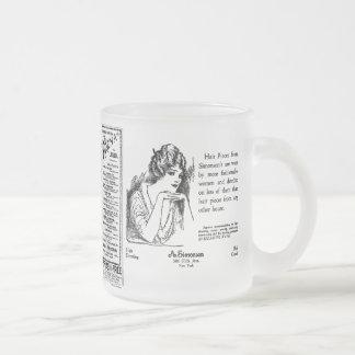 Newspaper #2 frosted glass coffee mug