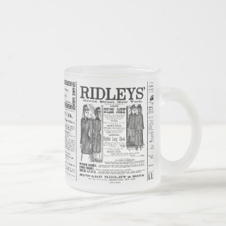 Newspaper #3 frosted glass coffee mug