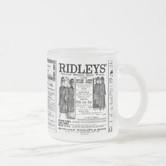 Newspaper #3 10 oz frosted glass coffee mug