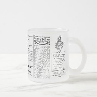 Newspaper #4 10 oz frosted glass coffee mug