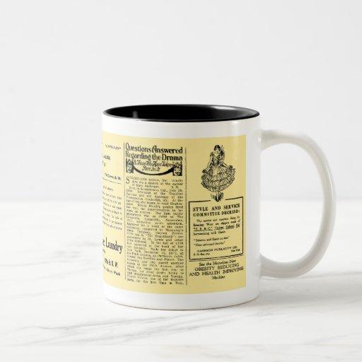 Newspaper #4 Two-Tone coffee mug