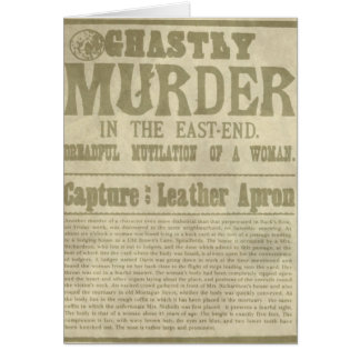 Newspaper Appeal: Jack the Ripper/Leather Apron Card