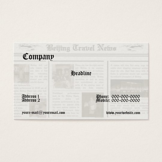 Newspaper Business Card