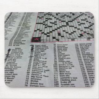 Newspaper Crossword Mouse Pad