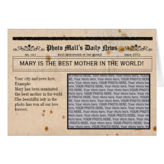Newspaper Customizable Greeting Card frame