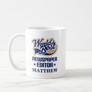 Newspaper Editor Personalized Mug Gift