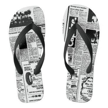Beach Themed Newspaper Flip Flops