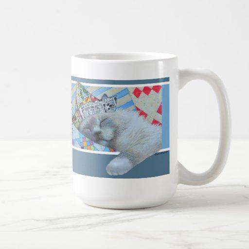 Newspaper Hat Cat Mug