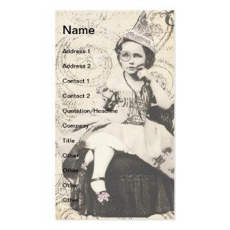 Newspaper Hat Girl Digital Art Business Cards