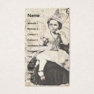 Newspaper Hat Girl Digital Art Business Card