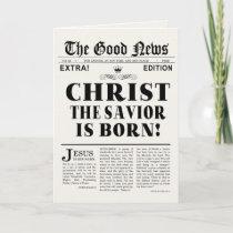 Newspaper Headline Christmas Card