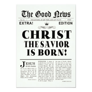 Newspaper Headline Christmas Photo Card