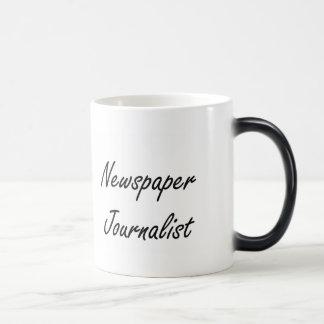 Newspaper Journalist Artistic Job Design 11 Oz Magic Heat Color-Changing Coffee Mug