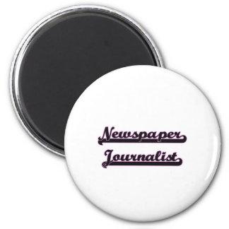 Newspaper Journalist Classic Job Design 2 Inch Round Magnet
