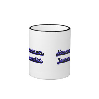 Newspaper Journalist Classic Job Design Ringer Coffee Mug