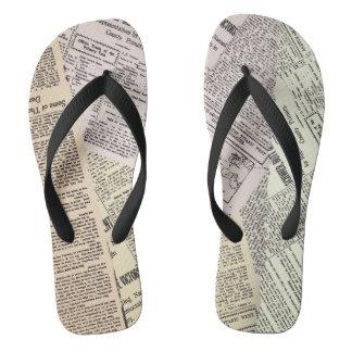 Newspaper Look Flip Flops
