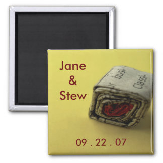 Newspaper Love Save the Date Magnet