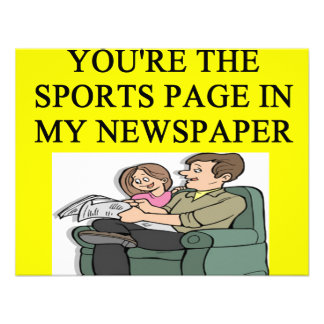 NEWSPAPER PERSONALIZED INVITES