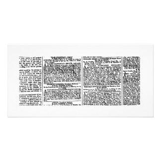 Newspaper Print (Black & White) Photo Cards