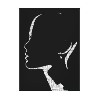 Newspaper Print Fashion Silhouette Art