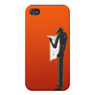 Newspaper Reading iPhone Case
