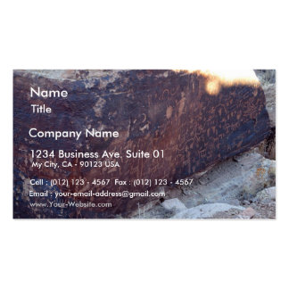 Newspaper Rock At Petrified Forest National Park Double-Sided Standard Business Cards (Pack Of 100)