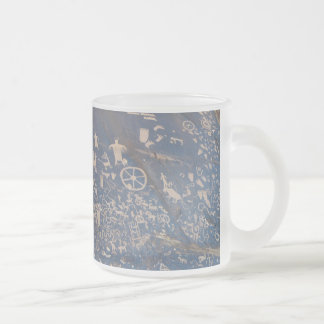 Newspaper Rock Frosted Glass Coffee Mug