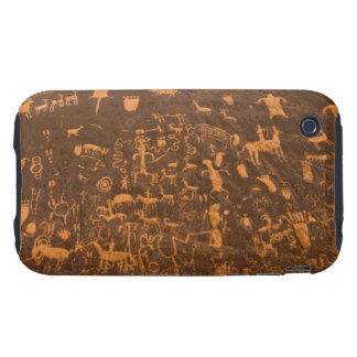 Newspaper Rock is a petroglyph panel etched in Tough iPhone 3 Covers