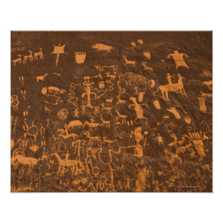 Newspaper Rock is a petroglyph panel etched in Posters