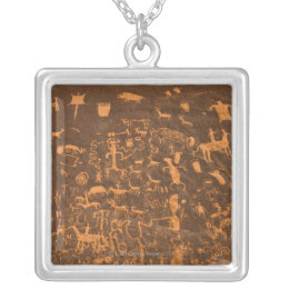 Newspaper Rock is a petroglyph panel etched in Silver Plated Necklace