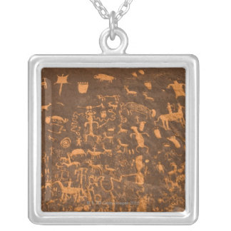 Newspaper Rock is a petroglyph panel etched in Square Pendant Necklace