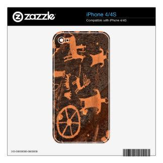 Newspaper Rock Petroglyph Panel - Utah Decal For iPhone 4S