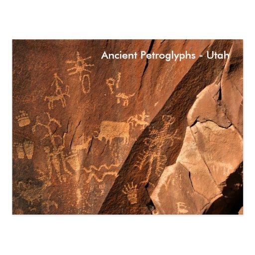 Newspaper Rock Petroglyphs Post Cards