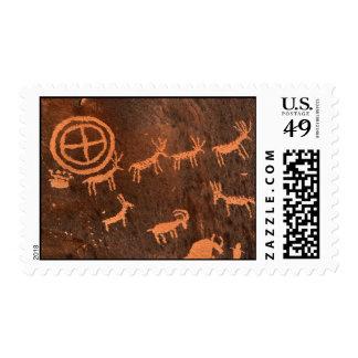 Newspaper Rock Petroglyphs Postage Stamp