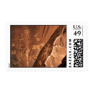 Newspaper Rock Petroglyphs Stamp