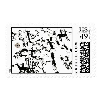 Newspaper Rock Stamp