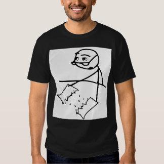 Newspaper Tear Guy Black T-Shirt