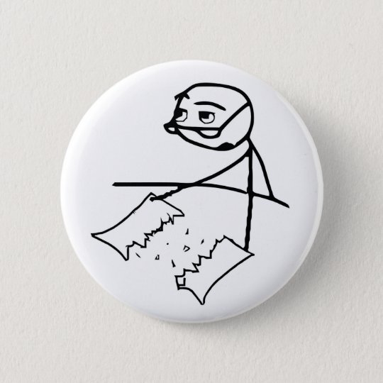 Newspaper Tear Guy Button