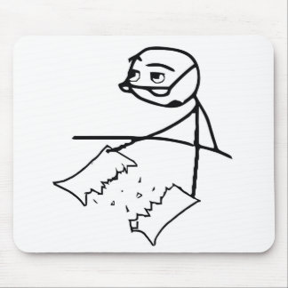 Newspaper Tear Guy Mouse Pad