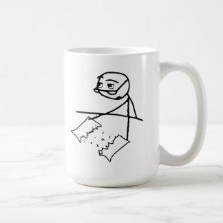 Newspaper Tear Guy Classic White Coffee Mug
