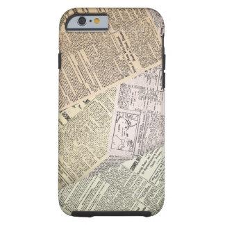 Newspaper Texture Tough iPhone 6 Case