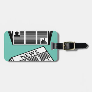 Newspaper Vector Bag Tag