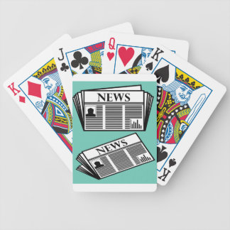 Newspaper Vector Bicycle Playing Cards